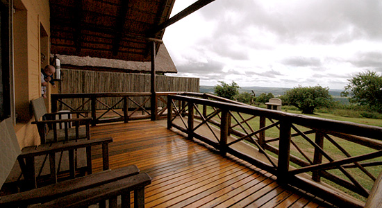 Mpila Camp 2 bed Chalet Deck view Self-Catering Accommodation Hluhluwe uMfolozi iMfolozi Game Reserve